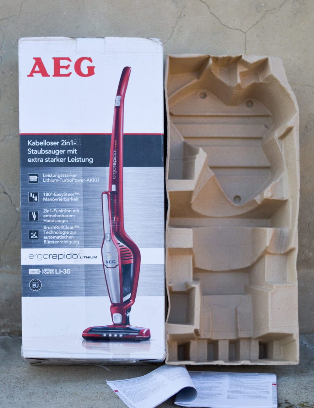 Verpackung AEG Ergorapido
